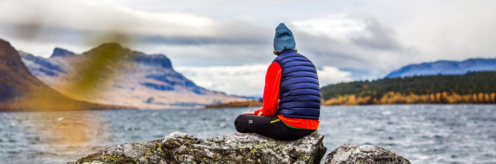 Vandrare pausar mellan Saltoluokta och Kvikkjokk