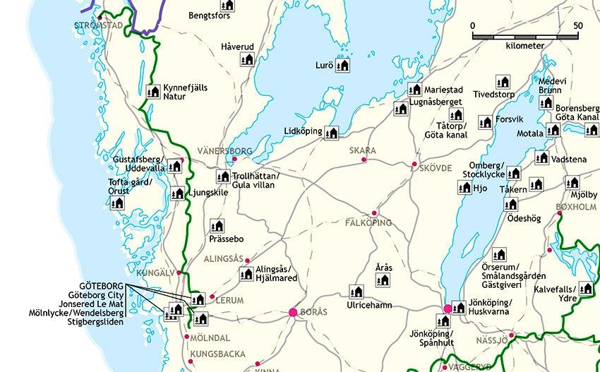 Karta över Bohusleden