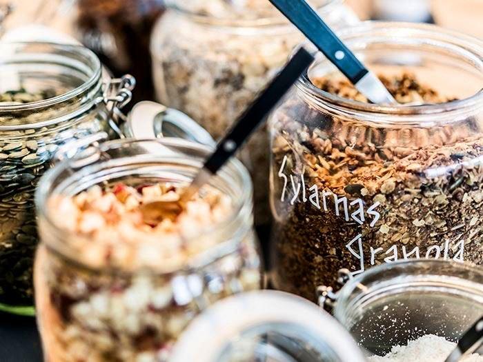 hemgjord granola på sylarna
