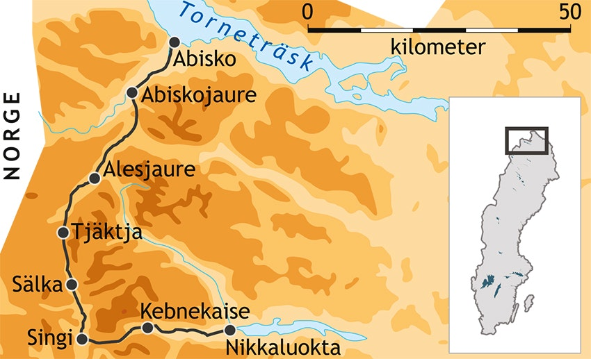norra kungsleden karta