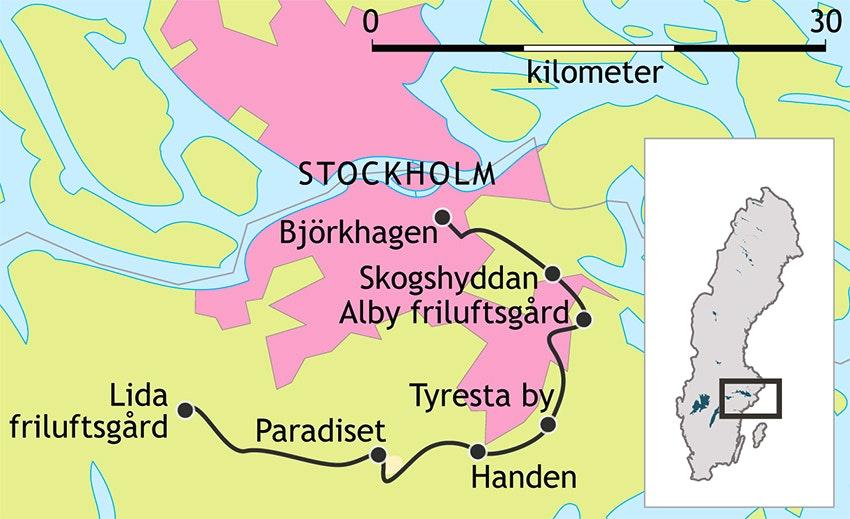 Sörmlandsleden karta