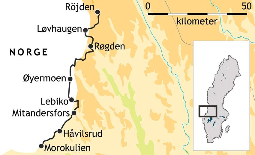 Vandringskarta värmland