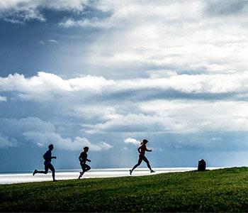 Löpning på Österlen