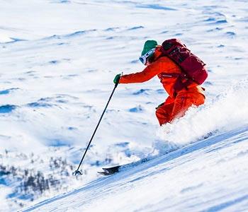 Topptur skidåkning