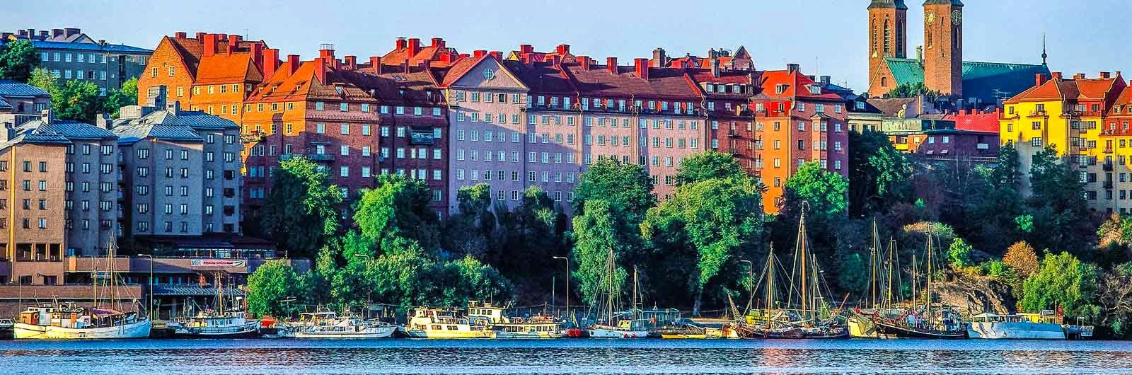 Byggnader i solljus på Södermalm