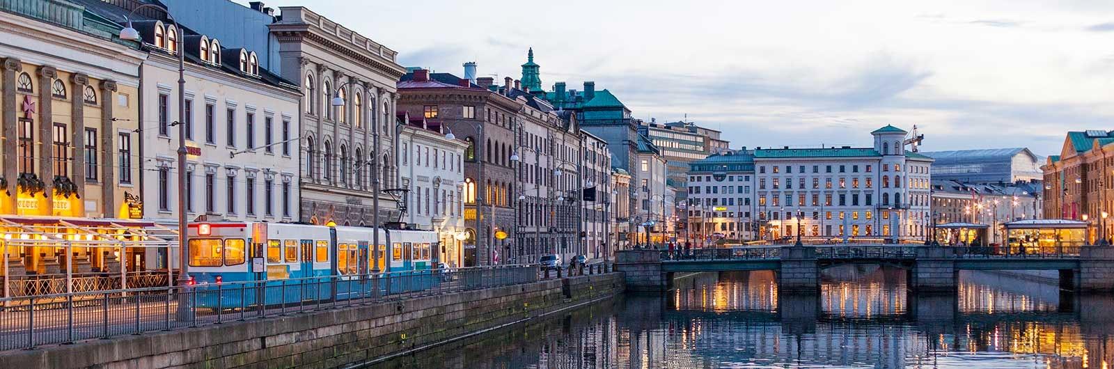 Byggnader och vatten i Göteborg