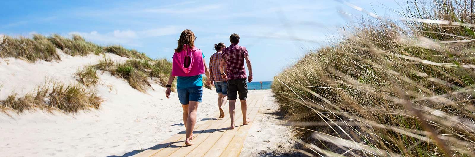 Strandpromenad vid Österlen