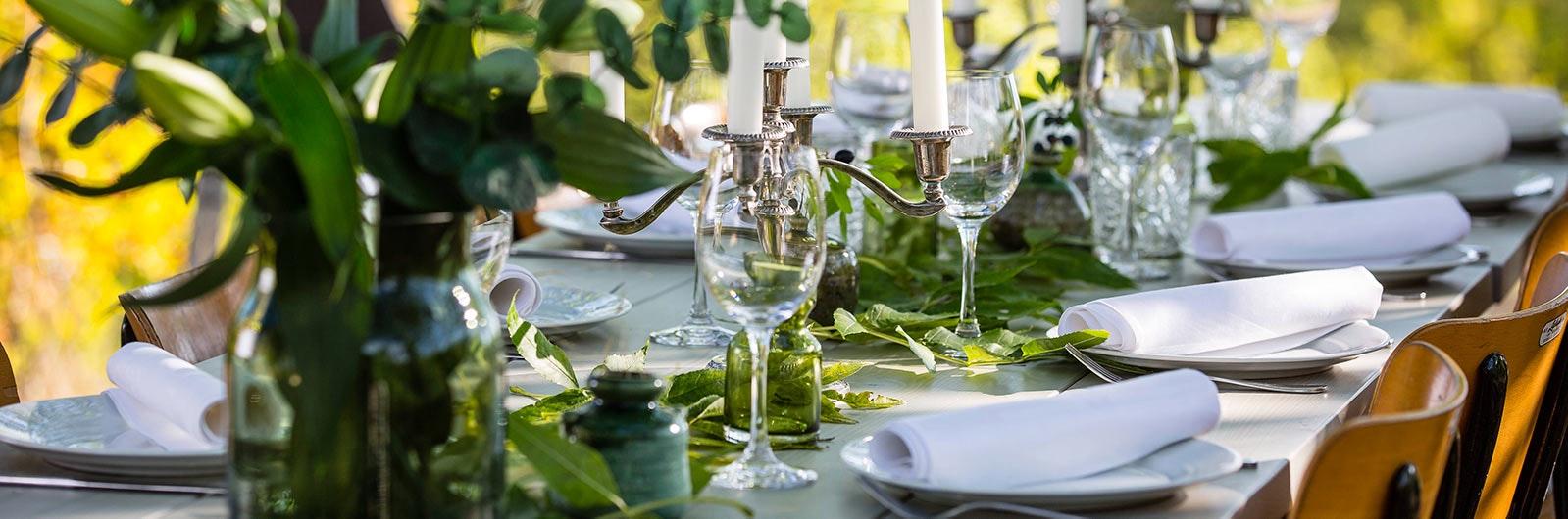 Vacker bordsdukning för Hyr hela huset
