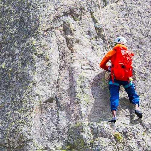 Klättring på berg