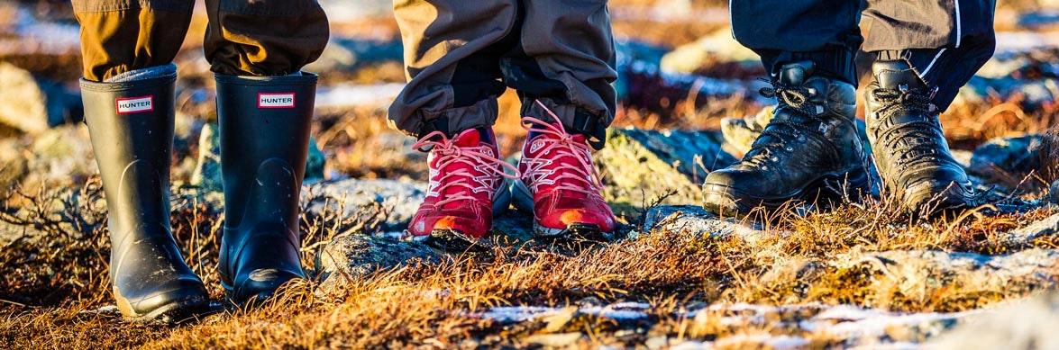 Stövlar, vandringsskor och vandringskängor