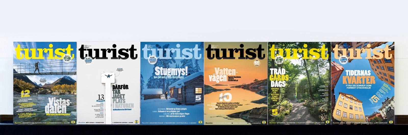 Sex nummer av tidningen Turist