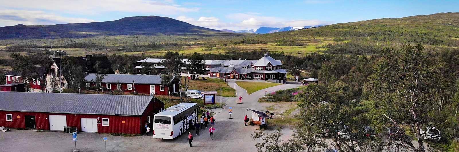 Buss stannar vid Storulvån