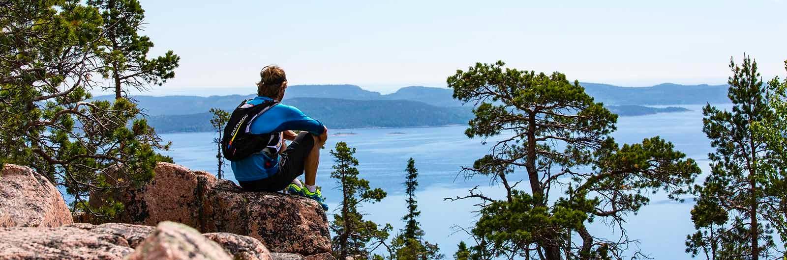 vandrare utsikt höga kustenleden