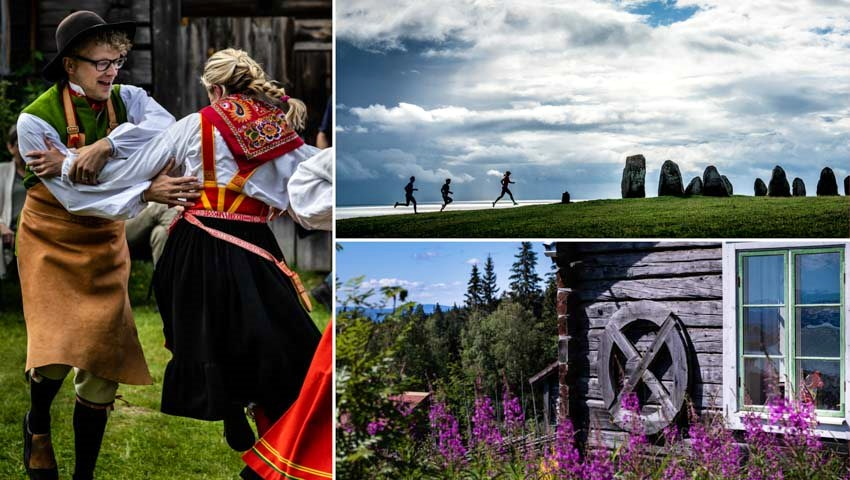 Folkdans och natur vid Siljansleden