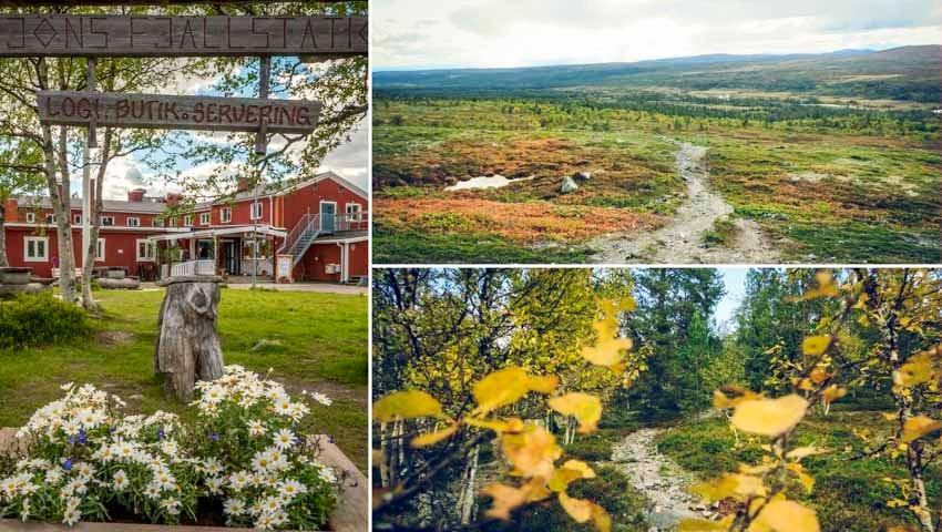Röda stugor och öppna landskap längs Grövelsjön-Tänndalen