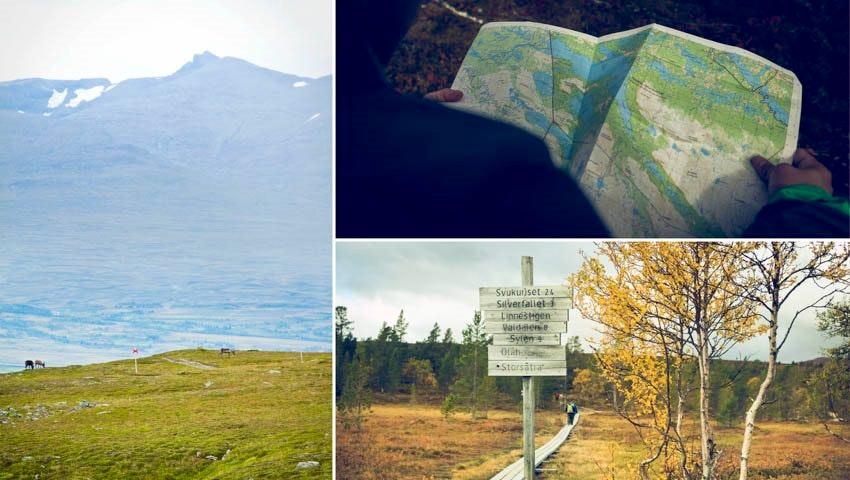 Karta och landskap vid Grövelsjön