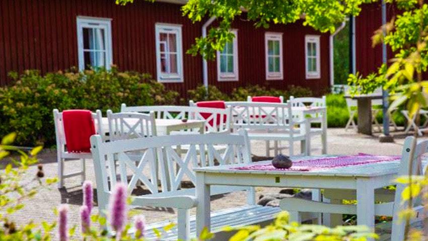 uteservering på Stora Frögården på Öland