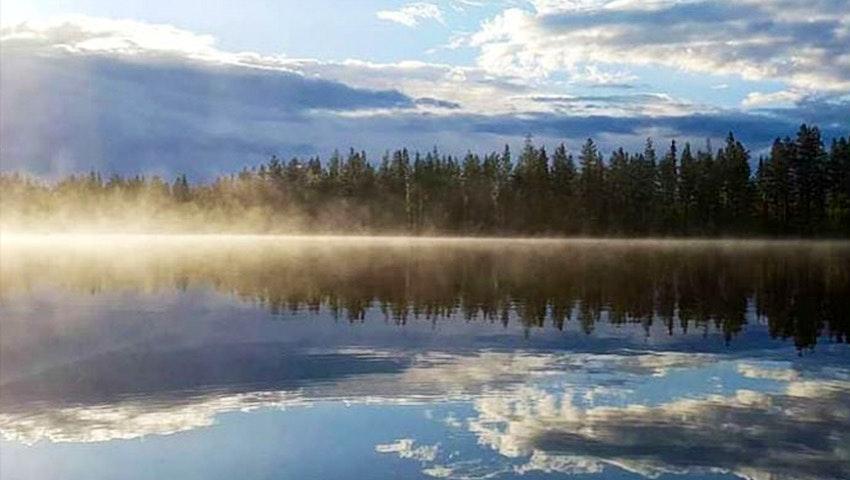 utsikt över sjö i jokkmokk