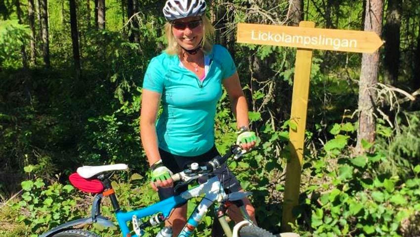 mountainbike i jädraås som äventyr