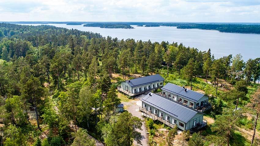 drönrabild över svartsö i stockholms skärgård