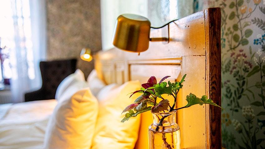 Sovrum på Lilla hotell i Västervik