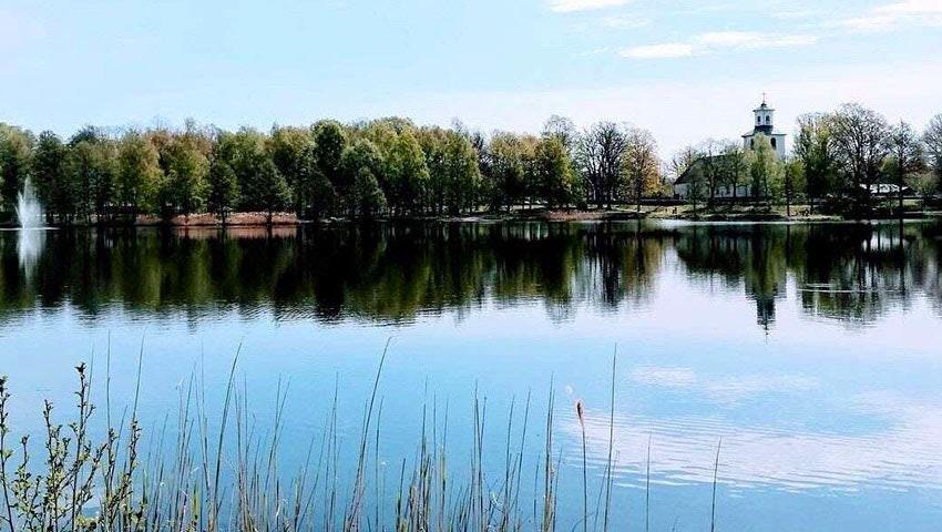 Badplats i Långasjö