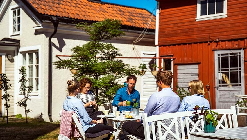 Fika på Hotell park i Västervik